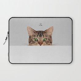 Cat on Gray Laptop Sleeve