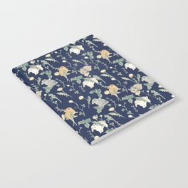 Spring Garden - navy blue Notebook