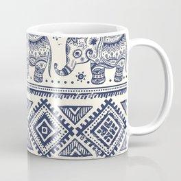 Vintage graphic vector Indian lotus ethnic elephant Coffee Mug