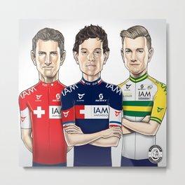 IAM Cycling Team Illustration Metal Print