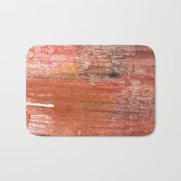 Sienna colored watercolor Bath Mat