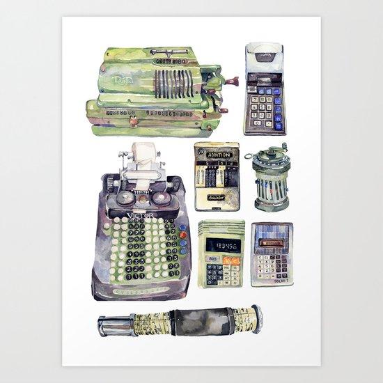 Counting Machines Art Print