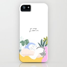 You Snooze, You Win iPhone Case