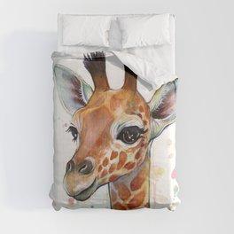 Giraffe Baby Watercolor Comforters