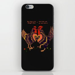 Love hides in the strangest places iPhone Skin