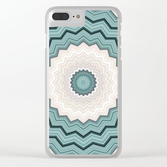 Abstract Turquoise Rings Clear iPhone Case