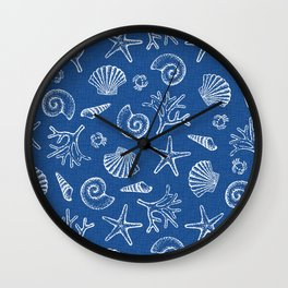 Lovely life on beach Wall Clock