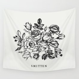 Smitten Floral Drawing Wall Tapestry