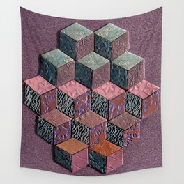 Tumbling Blocks #6 Wall Tapestry