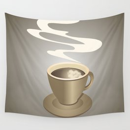 Coffee cup Wall Tapestry