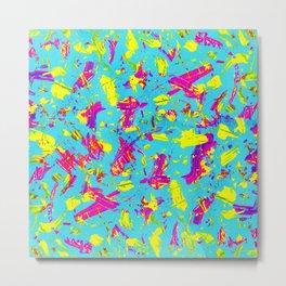 NEON PAINT pink Metal Print