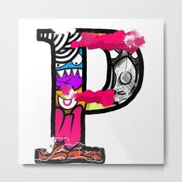 initial P Metal Print