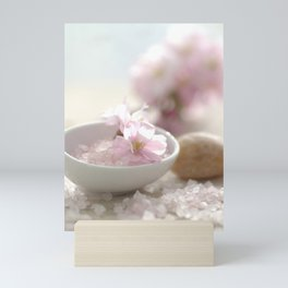 Still life for Bathroom with almond blossoms Mini Art Print