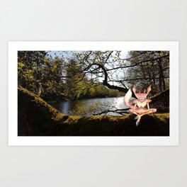 Lakeside Meditation Art Print
