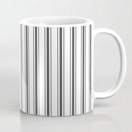 Mattress Ticking Wide Striped Pattern Black and White Coffee Mug