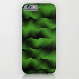 Emerald Green Waves iPhone Case