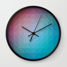Blend Pixel Color 6 Wall Clock