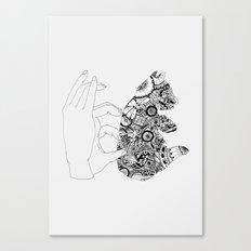 Y en la oscuridad también Canvas Print