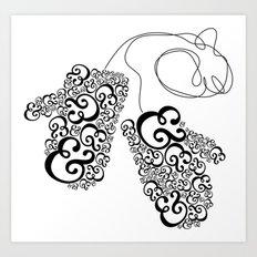 Ampersand Mittens Art Print