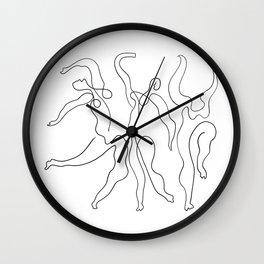 Picasso Line Art - Dancers Wall Clock