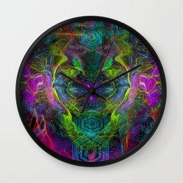 Rocket Man (abstract, psychedelic) Wall Clock