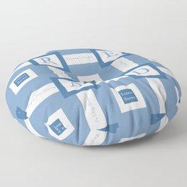Read A Leenie B Book (blue) Floor Pillow