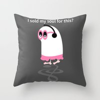 ghost Throw Pillows featuring Ghost by mailboxdisco
