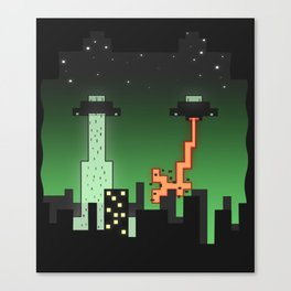 Suprise Arrival From An Unknown Planet! Canvas Print