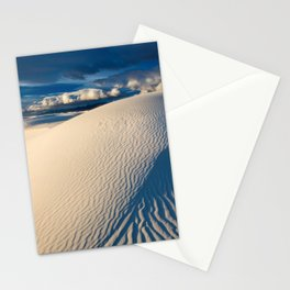 USA White Sands National Monument New Mexico Blue Dunes Desert Nature Sand Stationery Cards