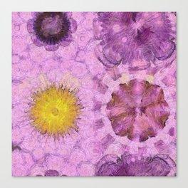 Zirkite Content Flower  ID:16165-022132-66350 Canvas Print
