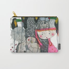 """""""Toucans""""  Illustrated print Carry-All Pouch"""