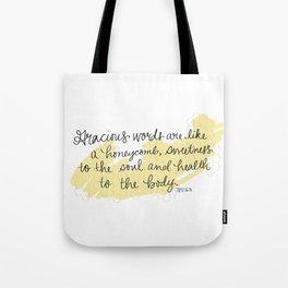 Honeycomb - Proverbs 16:24 Tote Bag