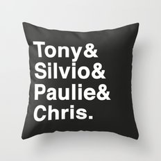 Tony & Silvio & Paulie & Chris. Throw Pillow