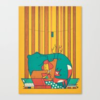 music Canvas Prints featuring MUSIC by Ale Giorgini