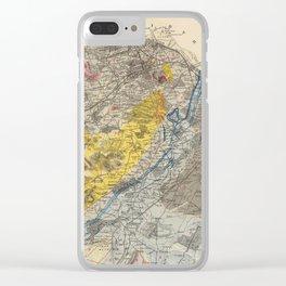 Vintage Geological Map of Edinburgh Scotland (1883) Clear iPhone Case