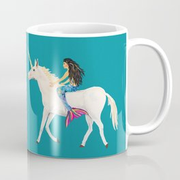 To the Land of Mermaids and Unicorns Coffee Mug
