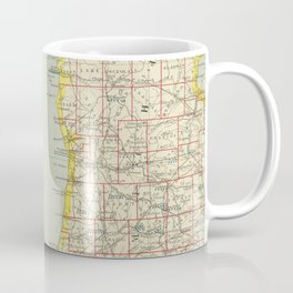 Vintage Map of Lake Michigan (1883) Coffee Mug