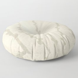 Cream and Taupe Pussy Willow Graphic Light Neutral Floor Pillow