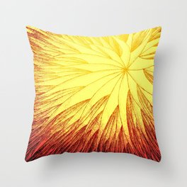 Abstract Flower3 Throw Pillow