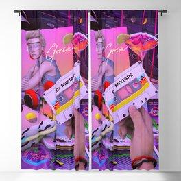 80s Mixtape Blackout Curtain