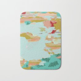 Seafoam Fern Collage Bath Mat