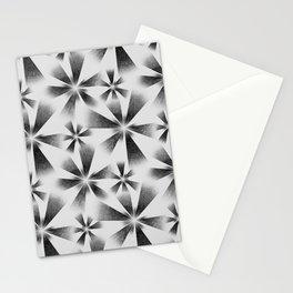Fragmented White Burst Stationery Cards