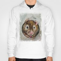hamster Hoodies featuring Hamster Love by Michael Creese