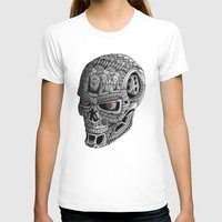 terminator T-shirts featuring Ornate Terminator by Adrian Dominguez
