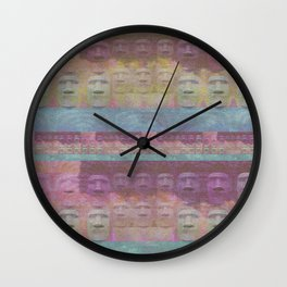 Easter Island Sunset Magic Print Wall Clock