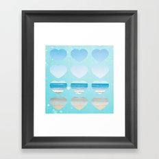 Heart Belongs At The Beach  Framed Art Print