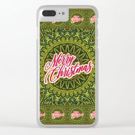 Merry Christmas Lace Clear iPhone Case