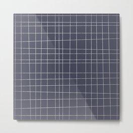 Charcoal Grid Metal Print