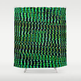GREEN EYED STARE Shower Curtain