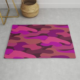 Camo-licious Collection: Strawberry Daiquiri Camouflage Pattern Rug